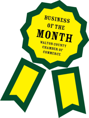 Walton County Chamber of Commerce Business of the Month Ribbon